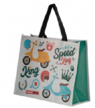 Speed King Scooter Design Shopping Bag